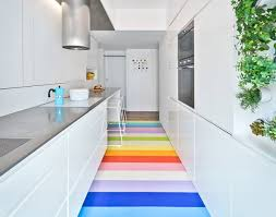 why rubber floors are great for kitchens and bathrooms apartment