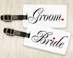 and groom luggage tags and groom luggage tags etsy uk