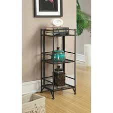 convenience concepts designs2go metal folding 2 shelf bookcase
