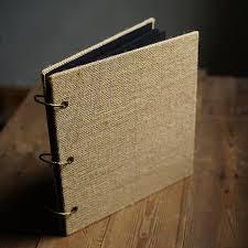 burlap photo album square burlap creative handmade diy album literary retro