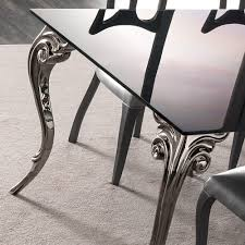 large black glass dining table set juliettes interiors chelsea
