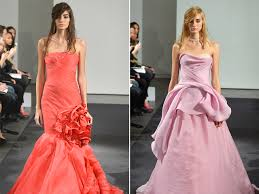 nice day for a pink wedding vera wang debuts colorful bridal