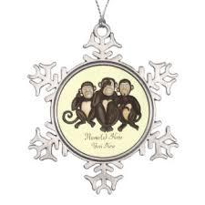 three wise monkeys ornaments keepsake ornaments zazzle