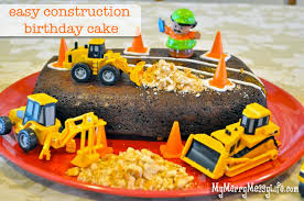 construction cake toppers gabriel s construction birthday cake easy cheap my merry