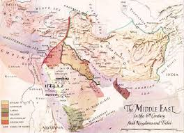 middle east map medina the middle east in the 6th century map