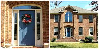 front door colors for slate blue house ideas green color tan brick
