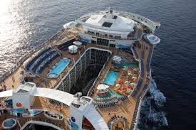 largest cruise ship in the world upper deck of the allure of the seas largest cruise ship in the