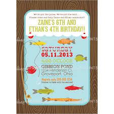 fish themed birthday party invitations stephenanuno com