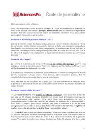 Lettre De Motivation Stage Journalisme 28 Images Lettre Faq Enseignants 2012 2013 Ecole De Journalisme De Sciences Po