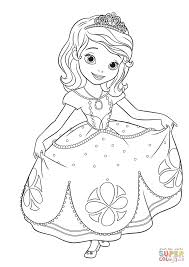 princess sofia curtseying coloring page free printable coloring