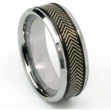 tire wedding ring the roadie tungsten carbide with laser car tire wedding band