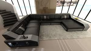 Black Leather Sofa With Chaise Furniture Luxury Black Leather Sectional Sofa Beliani Oslo