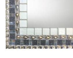 Rhinestone Wall Mirror Mosaic Mirror Etsy