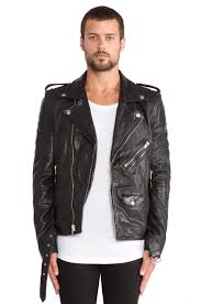 mens leather biker jacket blk dnm leather jacket 5 in black for men lyst