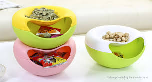 Plastic Candy Containers For Candy Buffet by 9 46 Double Layer Snacks Dry Fruit Melon Seeds Candy Container
