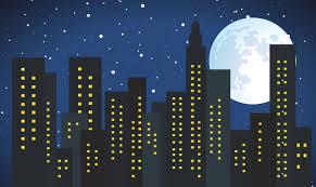 cityscape backdrop backdrop moon sky vinyl backdrop for