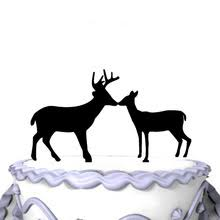 buck and doe wedding cake topper buy wedding cake toppers and get free shipping on