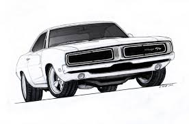 classic cars drawings 1969 dodge charger r t pro touring drawing by vertualissimo on
