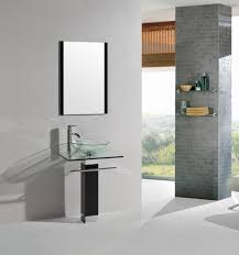 belvedere modern bathroom vanity tempered glass sink with chrome