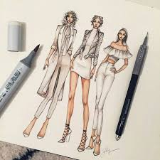 drawn fashion fashion sketch pencil and in color drawn fashion