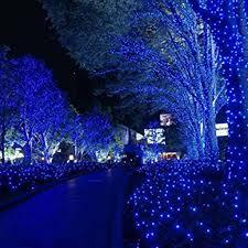 Outdoor Blue Lights Safe 24v 50m 250 Led White Blue String Lights