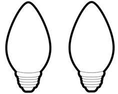 Christmas Light Bulb Coloring Page Jennywashere Com Light Coloring Page