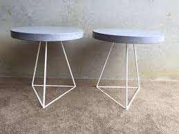 Concrete Side Table Concrete Side Tables Lumber Furniture