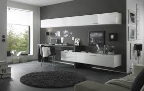 bureau blanc moderne aménagement bureau moderne peinture murale gris anthracite