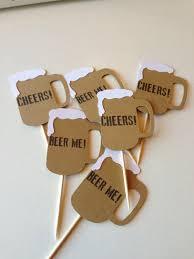 12 beer mug cupcake topper food pick topper 5 00 via etsy