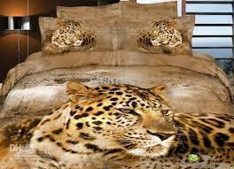 Leopard Print Duvet Animal Leopard Print Duvet Doona Cover Sheet Set Queen Cotton
