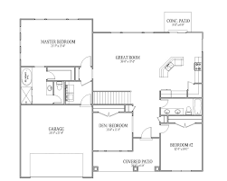 Modern Open Floor Plans Top 3 Bedroom Open Floor House Plans On Modern Home Interior