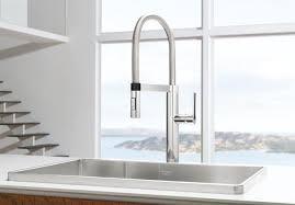 semi professional kitchen faucet blanco 441331 culina semi pro kitchen faucet chrome