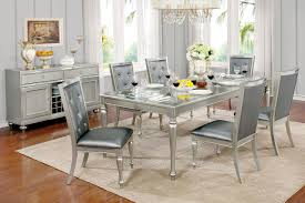 Grey Dining Room Furniture by Furniture Of America Cm3229t Silver Gray Dining Set