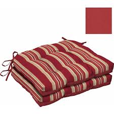 Red Bed Cushions Mainstays Outdoor Wicker Chair Cushions Red Stripe Set Of 2