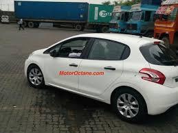 peugeot hatchback peugeot 208 premium hatchback spotted testing in india