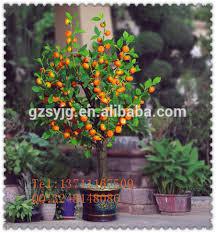 mini artificial orange bonsai orange tree potted plastic
