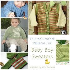 free crochet patterns for sweaters link blast 13 free crochet patterns for baby boy sweaters