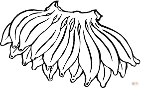 big hand of bananas coloring page free printable coloring pages