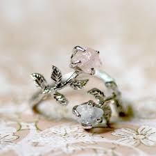 crystal stone rings images Labradorite and rose quartz stone ring gorgeous pinterest jpg