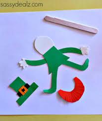 popsicle stick leprechaun puppet craft for st patrick u0027s day