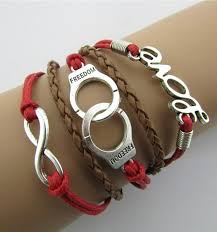 bracelet woven images Red love handcuffs 5 layers vintage woven bracelet bracelets jpg