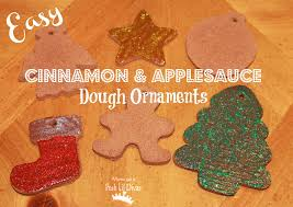 to 2 posh lil divas easy cinnamon and applesauce dough