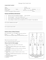 Salon Client Information Sheet Template Free Intake Forms Client Intake Form General And