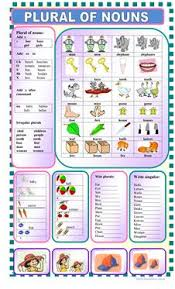 150 free esl plurals worksheets