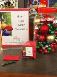 guess how many ornaments display bulletin boards