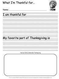what i u0027m thankful for writing sheet education world