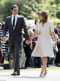 pippa middleton wedding roger federer looks dapper daily mail