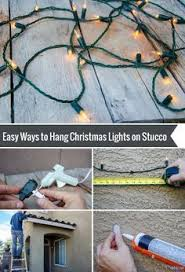 how to hang lights on stucco hanging lights