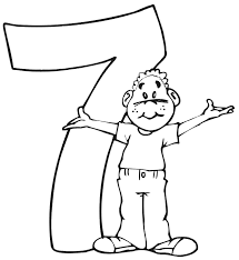 birthday coloring pages boy birthday coloring page a boy standing beside the number 7