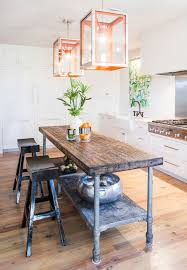 kitchen island metal interiors kitchen design bright and kitchens